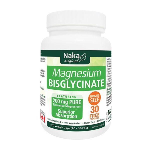 Naka Herbs Naka Magnesium Bisglycinate 120 vcaps