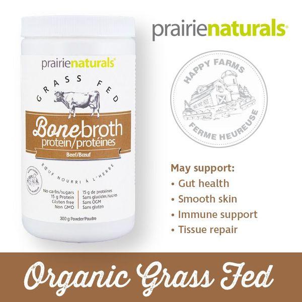 Prairie Naturals Prairie Naturals Organic Beef Bone Broth Protein Powder 300g