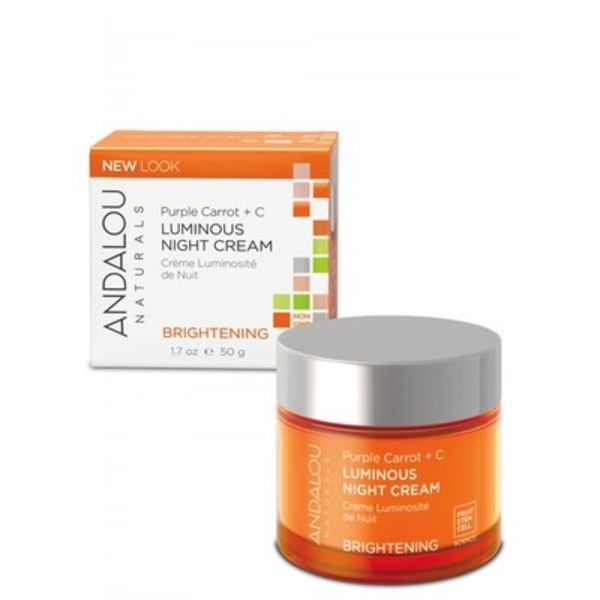 Andalou Naturals Andalou Brightening Purple Carrot + C Luminous Night Cream 50ml