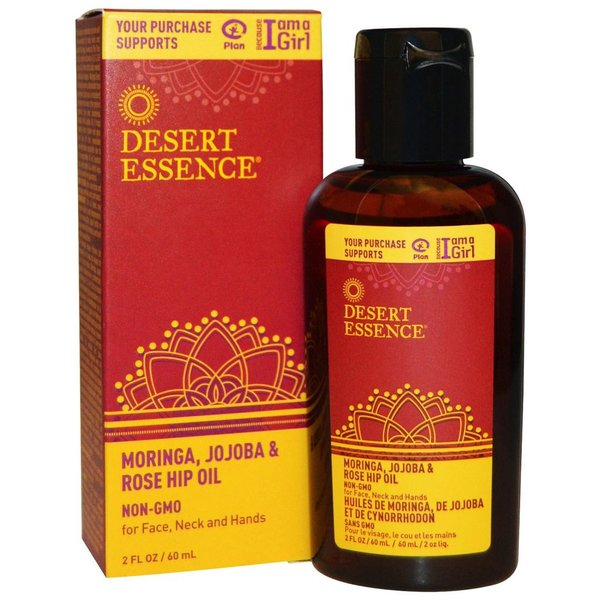 Desert Essence Desert Essence Oil Moringa, Jojoba & Rosehip for Face, Neck and Hands 60ml