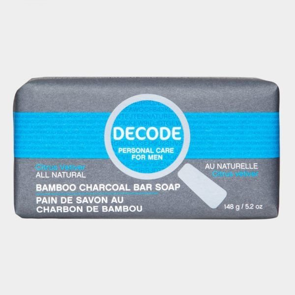 Decode Decode for Men Bamboo Charcoal Bar Soap Citrus Vetiver 148g
