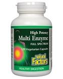 Natural Factors Natural Factors Multi Enzyme High Potency-Full Spectrum 120 vcaps