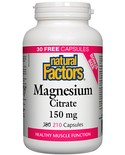 Natural Factors Natural Factors BONUS Magnesium Citrate 150mg 210 caps