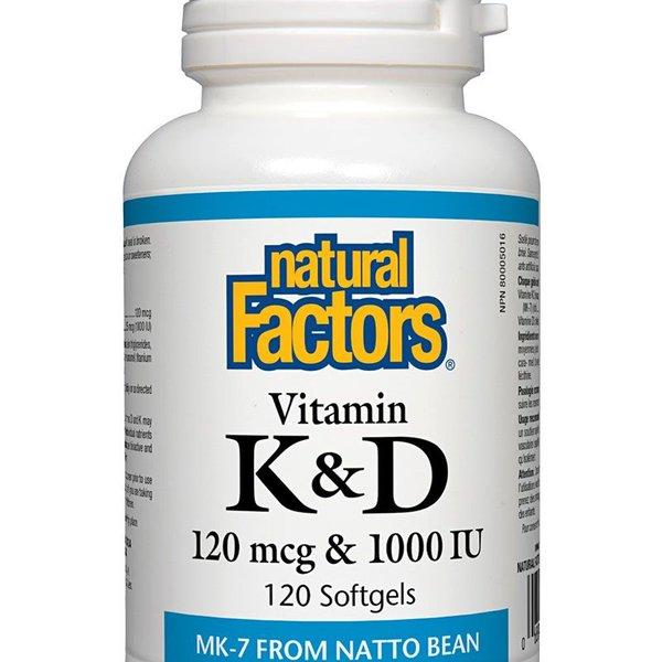 Natural Factors Natural Factors Vitamin K & D 120 softgels