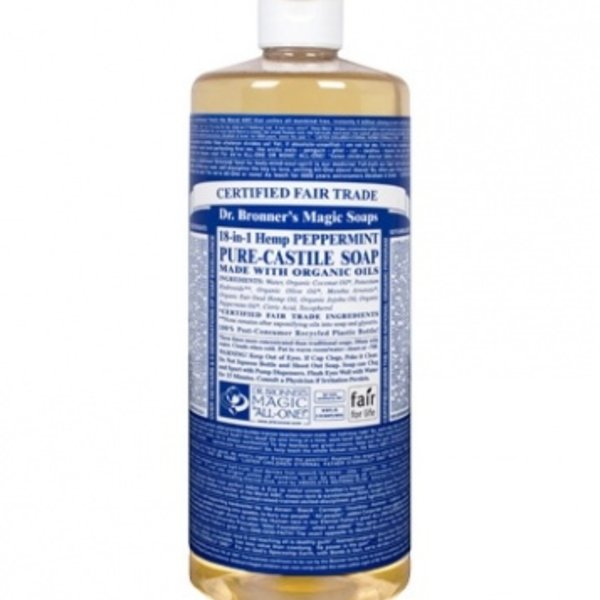 Dr. Bronner's Dr Bronner's Peppermint Oil Castile Soap Liquid 32oz