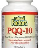 Natural Factors Natural Factors PQQ-10 <br /> (PQQ 20 mg CoEnzyme Q10 200 mg) 30 softgels