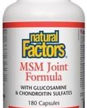 Natural Factors Natural Factors MSM Joint Formula 180 caps