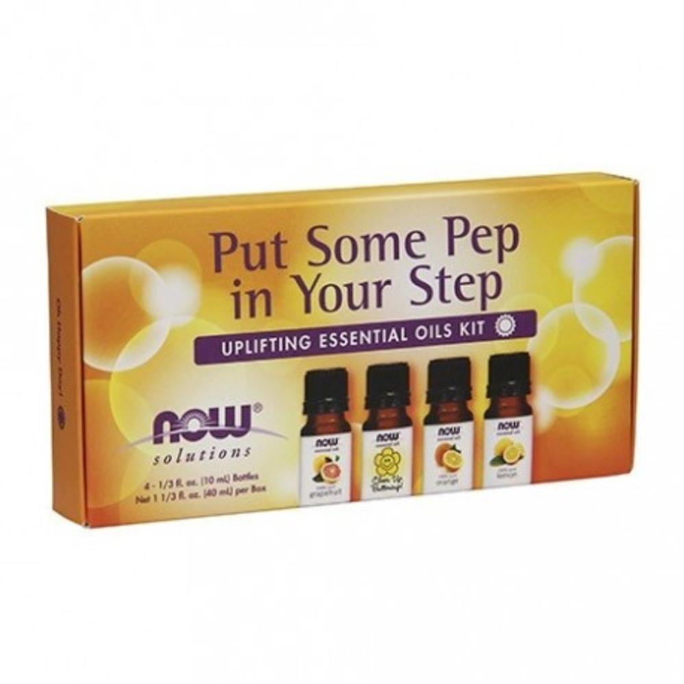 NOW Essential Oil Kit - Put Some Pep In Your Step 4 X 10ml
