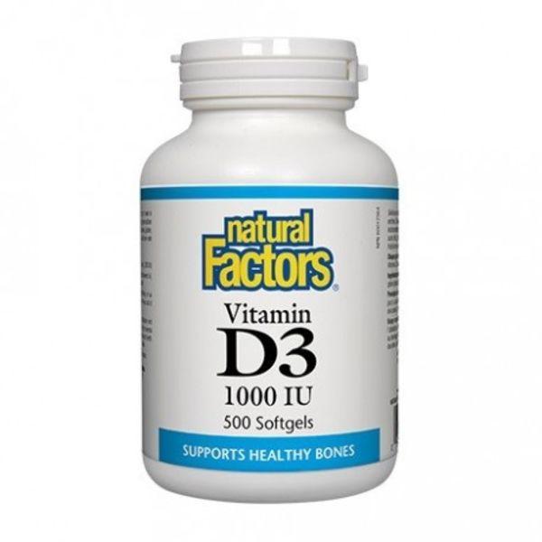 Natural Factors Natural Factors Vitamin D3 1000 IU 500 softgels