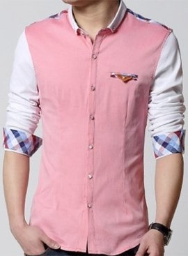 Peach Colored Full Sleeve Shirt