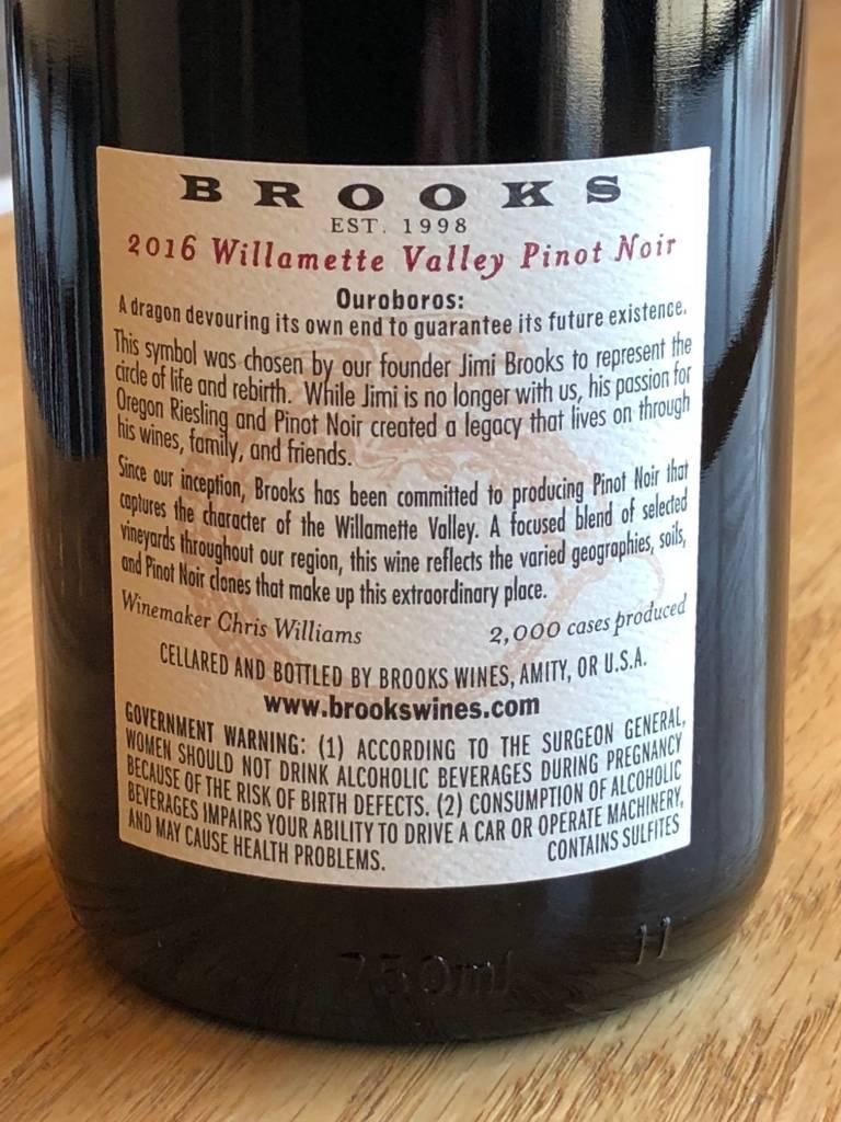 Brooks 2016 Brooks Pinot Noir Willamette Valley 750mL