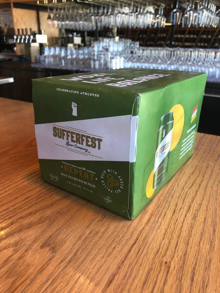 """Sufferfest Beer Company Sufferfest """"Repeat"""" Kolsch with Bee Pollen 12oz 6pk"""