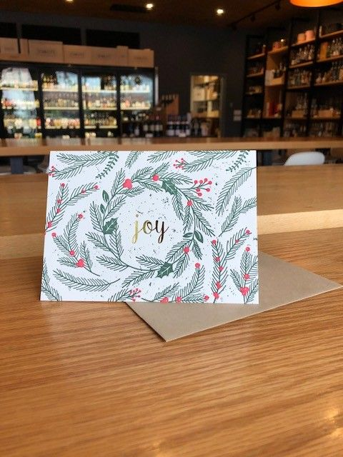 Joy Spruce Foil Pike Street Press Greeting Card