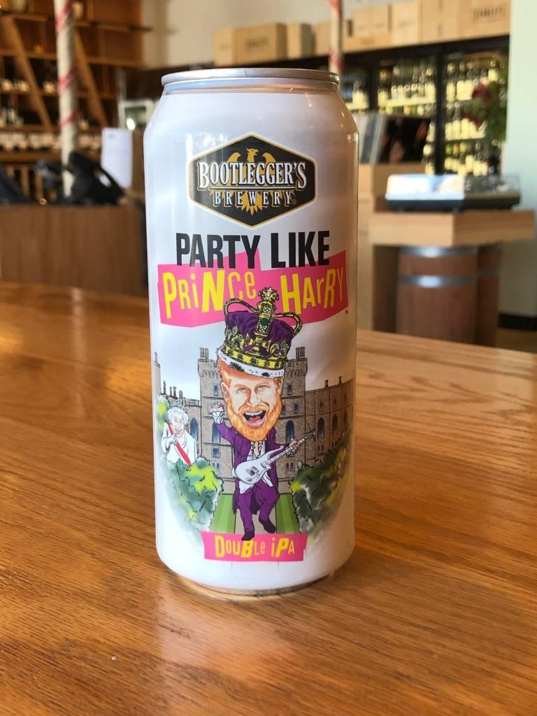 Bootlegger's Brewery Bootlegger Party Like Prince Harry Hazy Double IPA 16oz