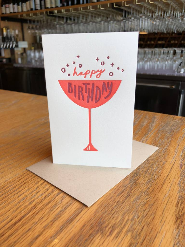 Happy Birthday Cup Pike Street Press Greeting Card