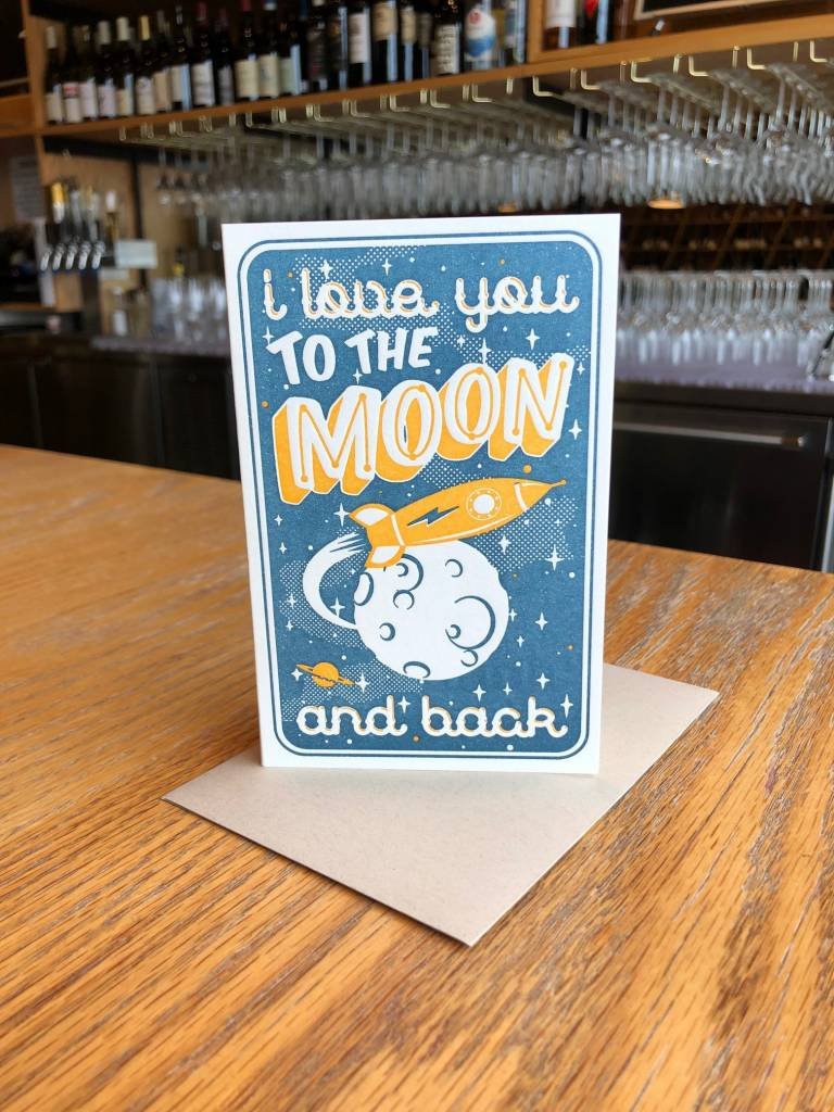 To The Moon Pike Street Press Greeting Card
