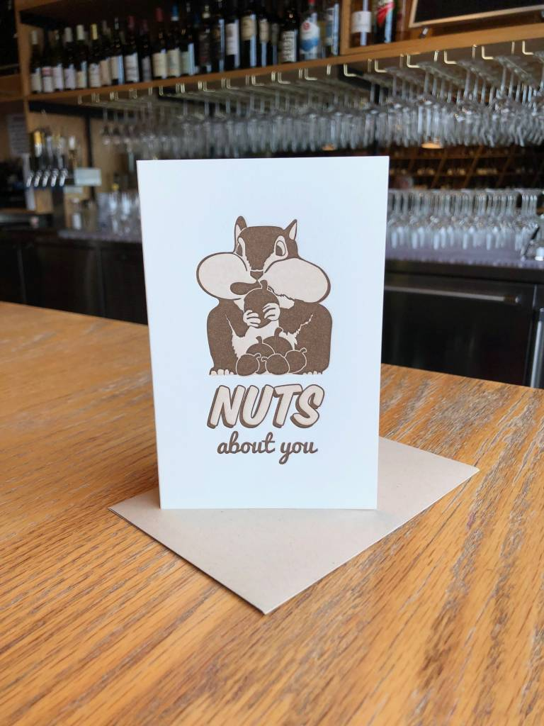 Nuts About You Pike Street Press Greeting Card