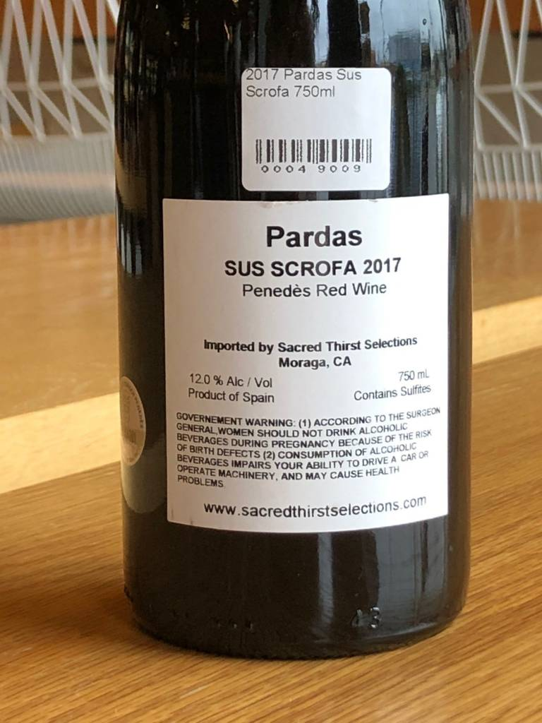 Pardas 2017 Pardas Sus Scrofa 750ml