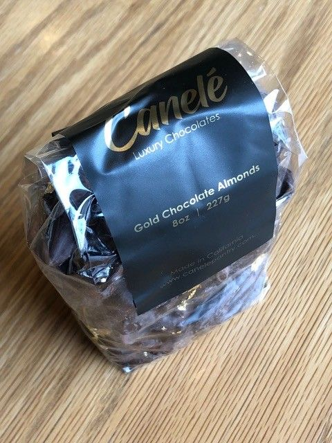 Canele Gourmet Pantry Canele 24k Chocolate Almonds 8oz