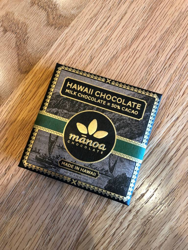 Manoa Chocolate Manoa Hilo Hawaii Island Milk 50% Mini 20g