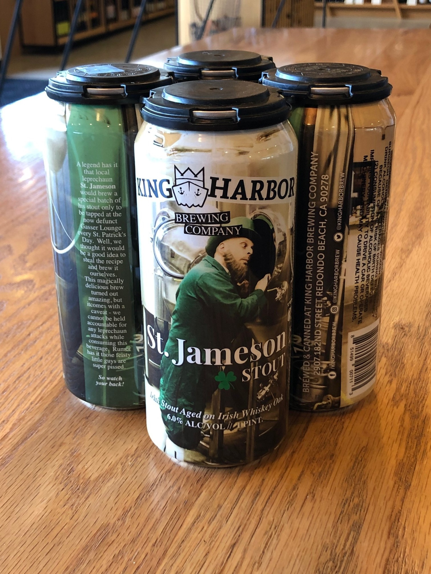 King Harbor Brewing Company King Harbor Brewing St. Jameson Stout 16oz 4pk