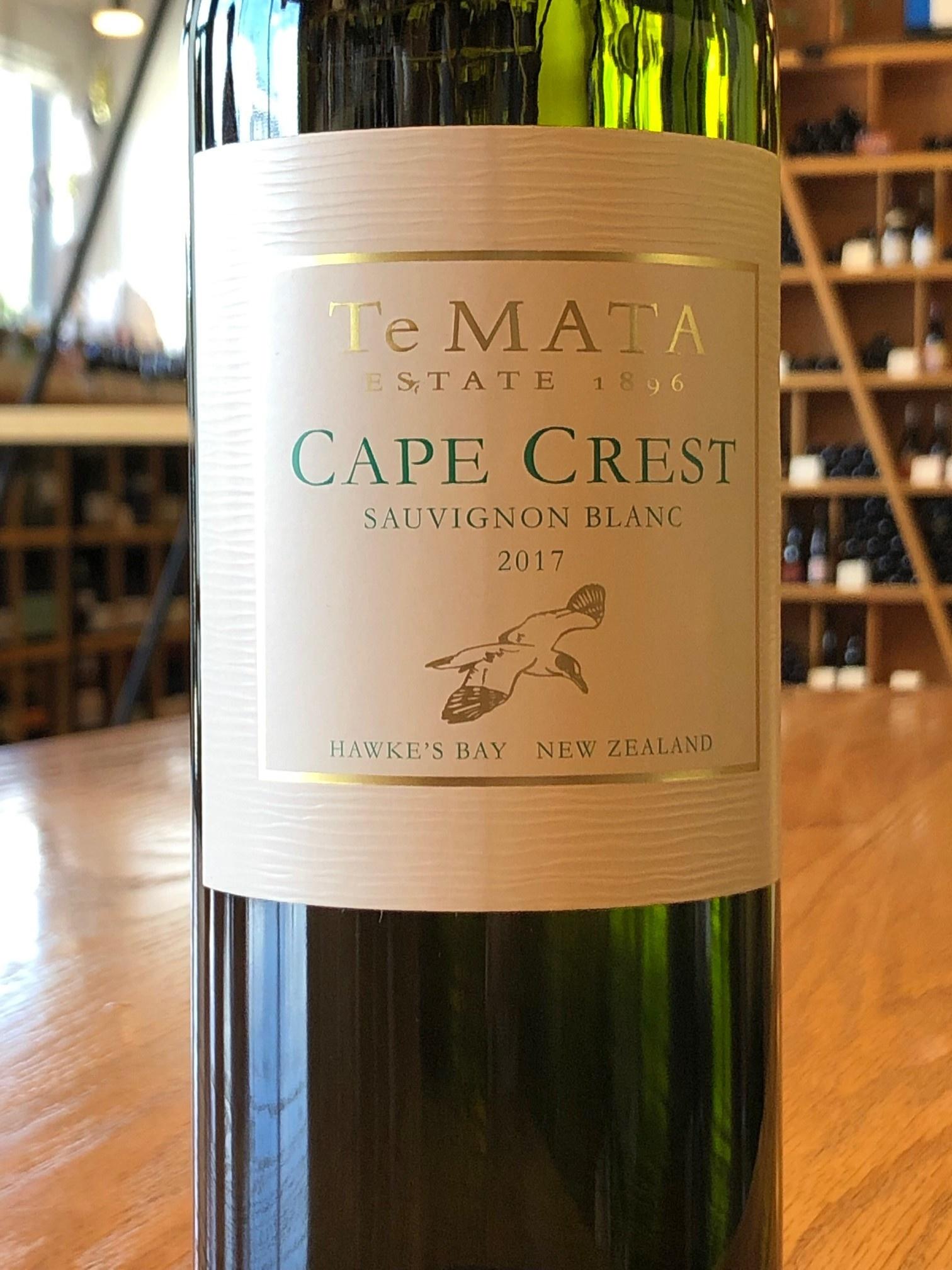 2017 Te Mata Cape Crest Sauvignon Blanc Hawke's Bay White 750ml