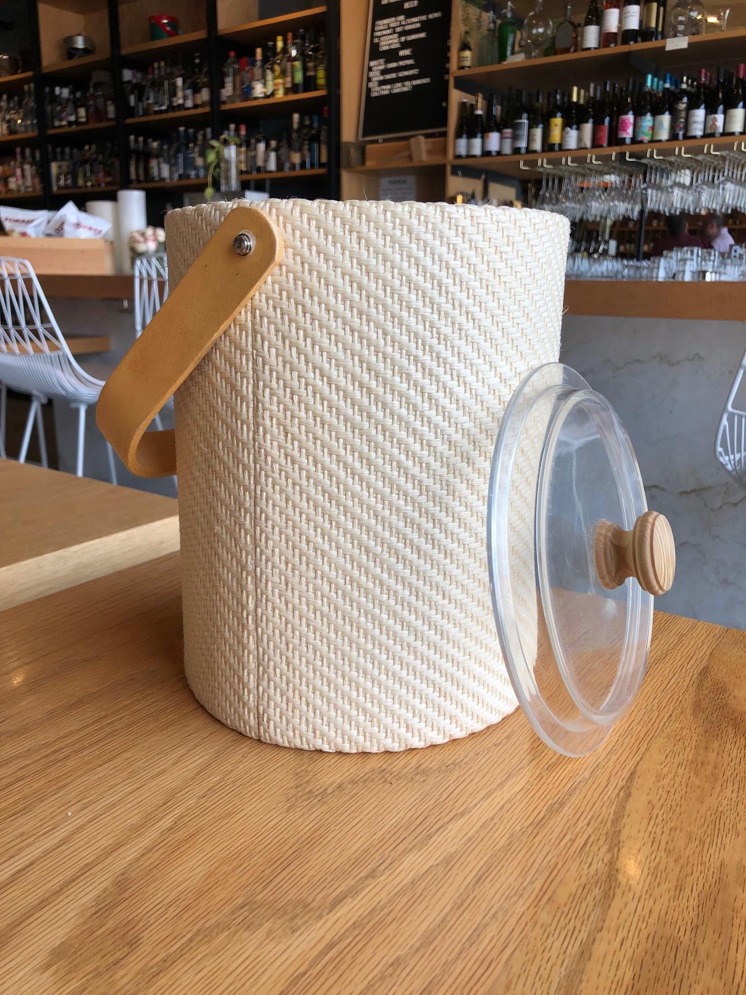 Georges Briard Vintage Georges Briard Tan Weave Ice Bucket