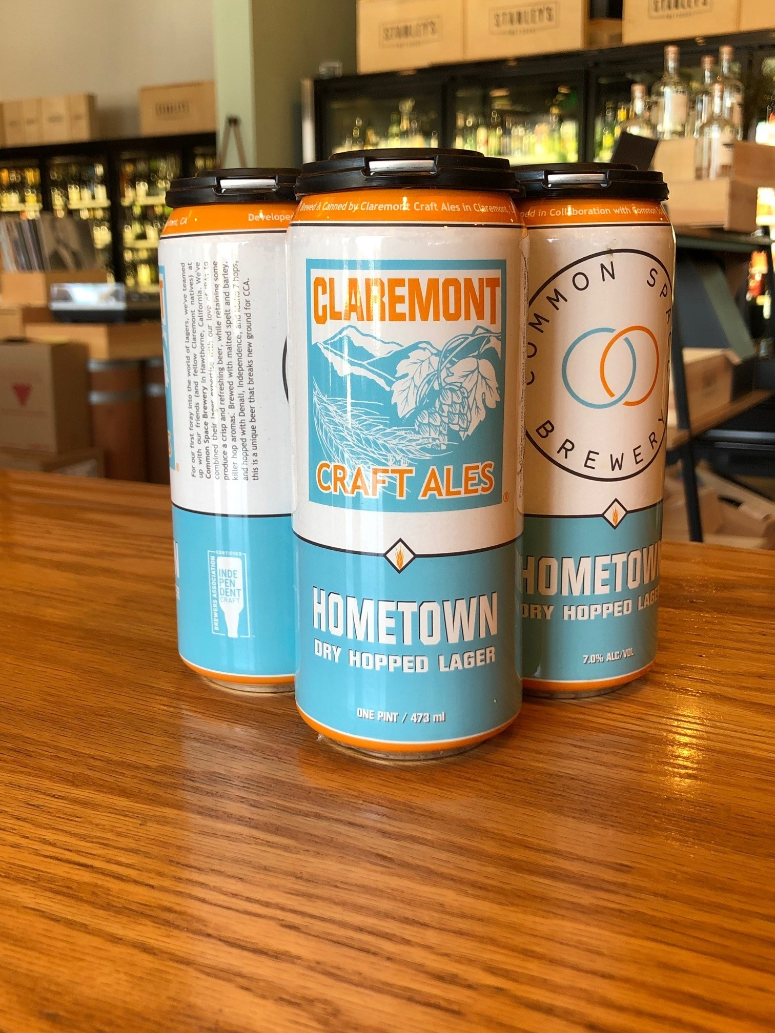 Claremont Hometown Lager 16oz 4 pack