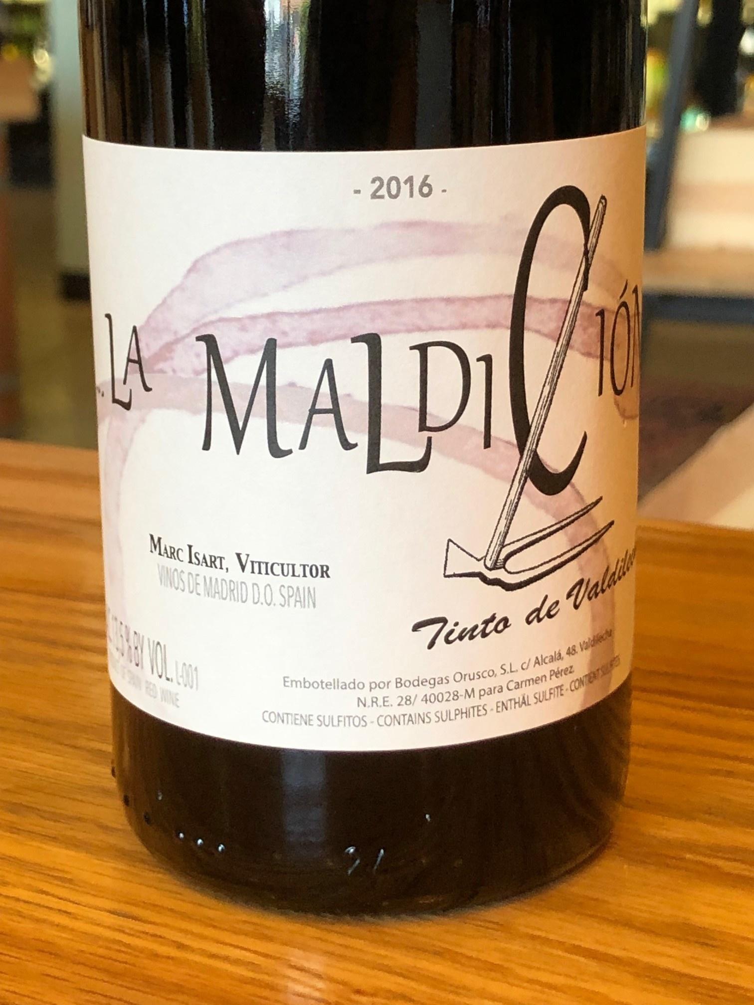 Marc Isart 2016 Marc Isart 'La Maldicion' Tinto 750ml
