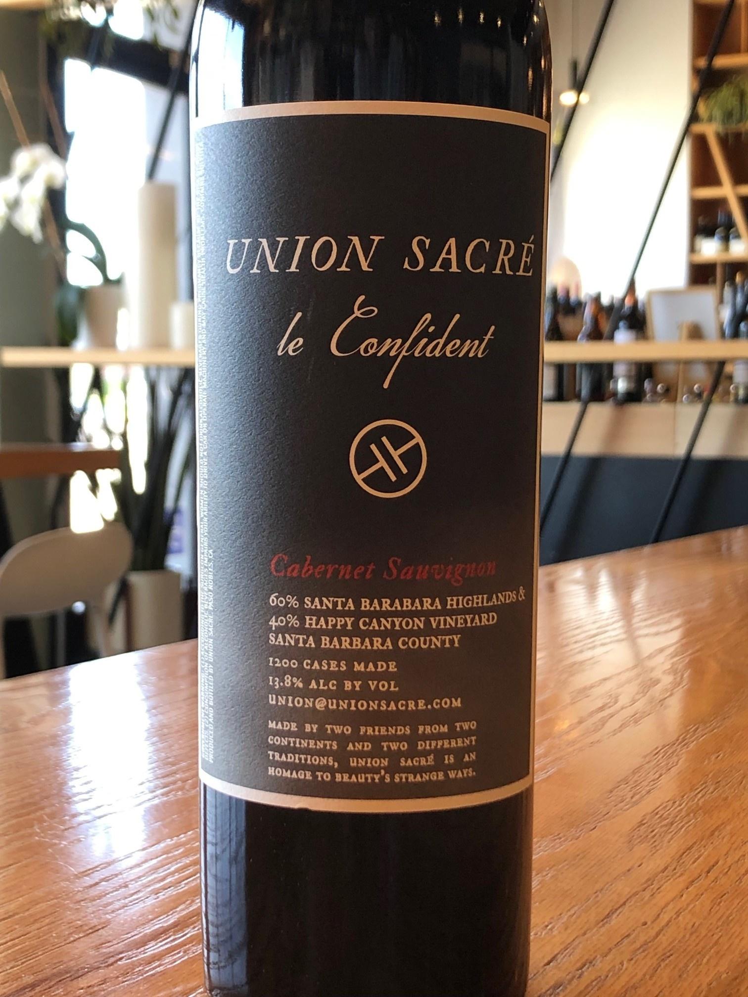 Union Sacre 2017 Union Sacre Cabernet Sauvignon ''Le Confidant'' 750mL