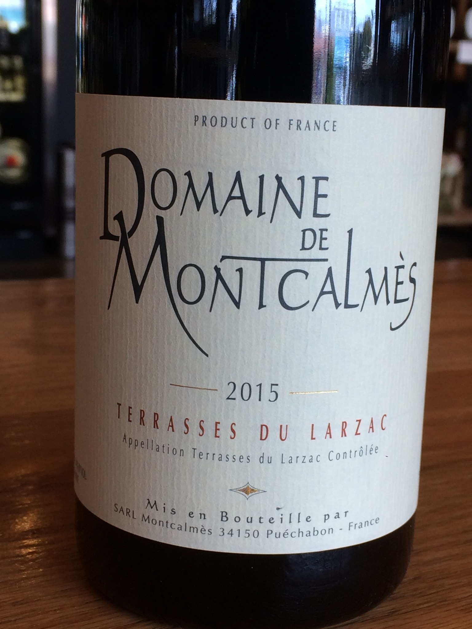 Domaine de Montcalmes 2015 Domaine de Montcalmès Terrasses du Larzac 750mL