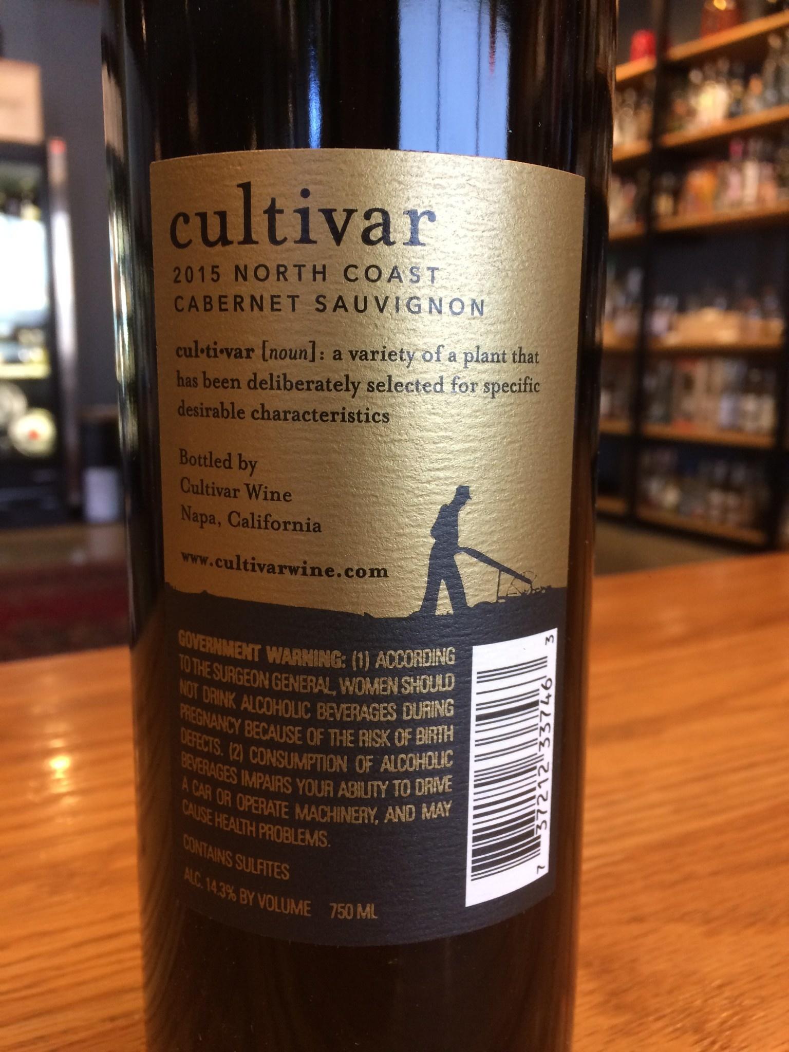 2015 Cultivar Cabernet Sauvignon North Coast 750ml