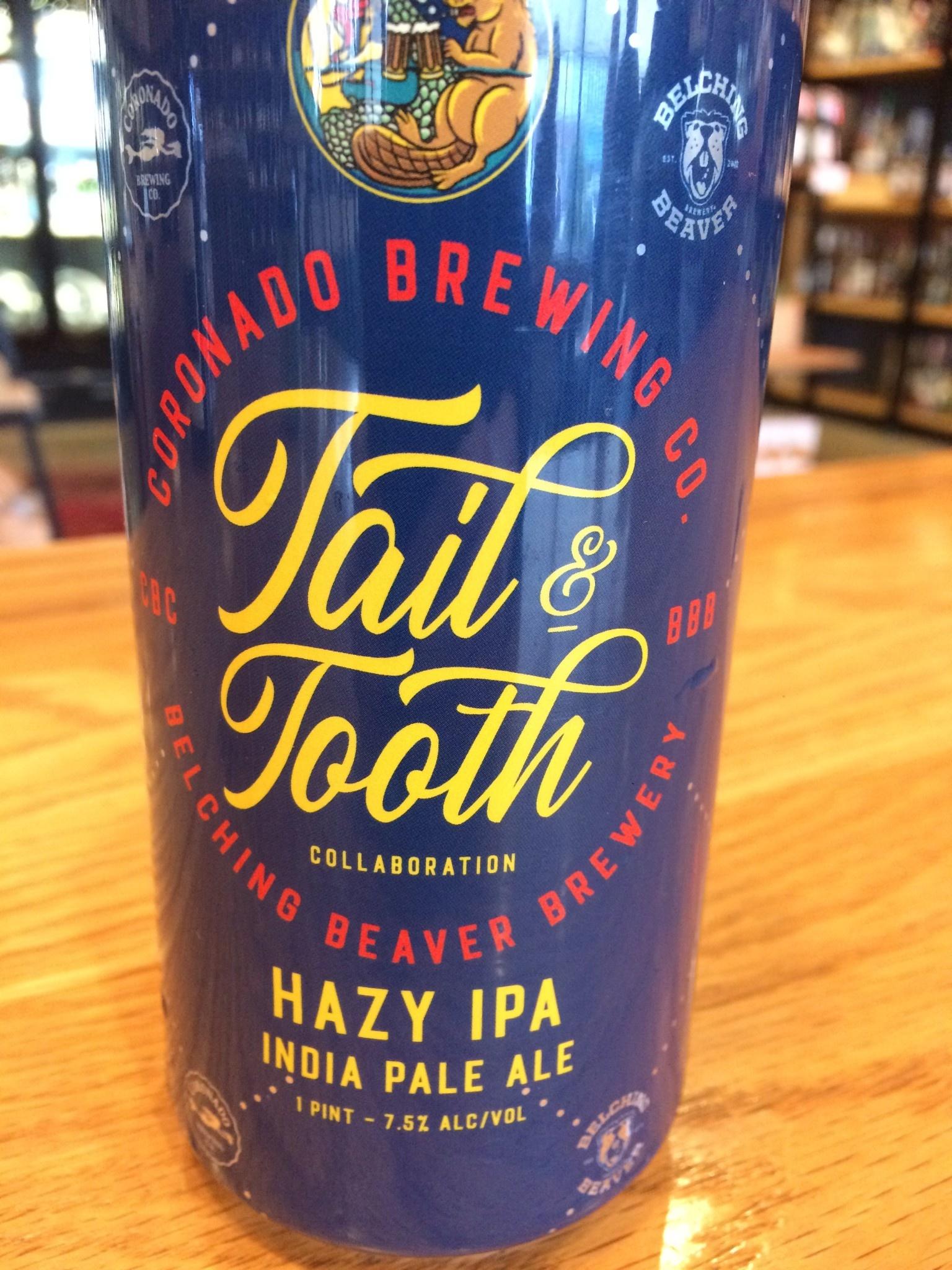 Coronado Brewing + Belching Beaver Tail and Tooth IPA 16oz 4pk