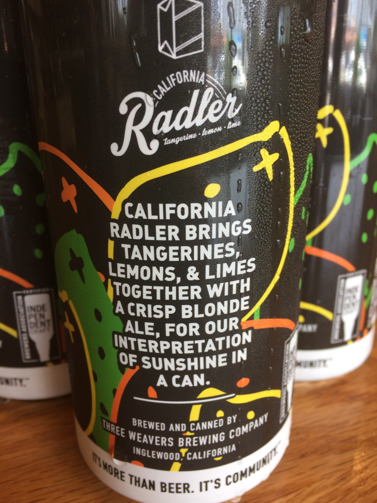 Three Weavers Brewing Three Weavers California Radler  4pk 16oz Can