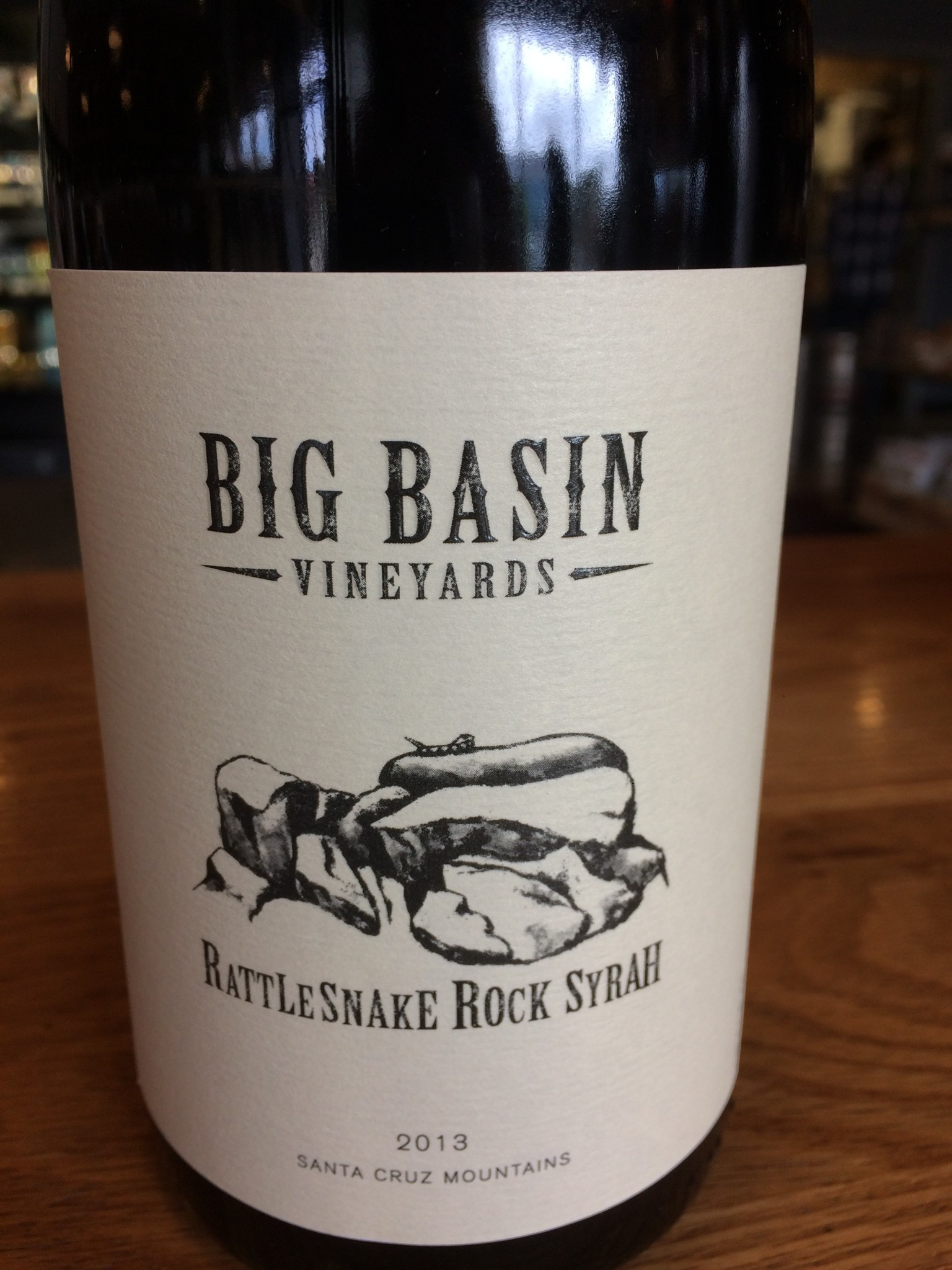 Big Basin Vineyards 2013 Big Basin Vineyards Rattlesnake Rock Estate Syrah, Santa Cruz 750ml