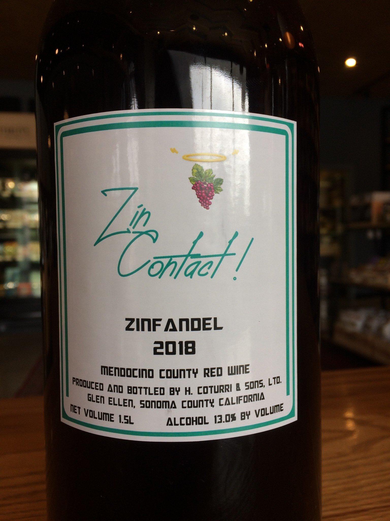 Sonoma Mountain Winery 2018 Sonoma Mountain Winery 'Zin Contact' Zinfandel 1500ml