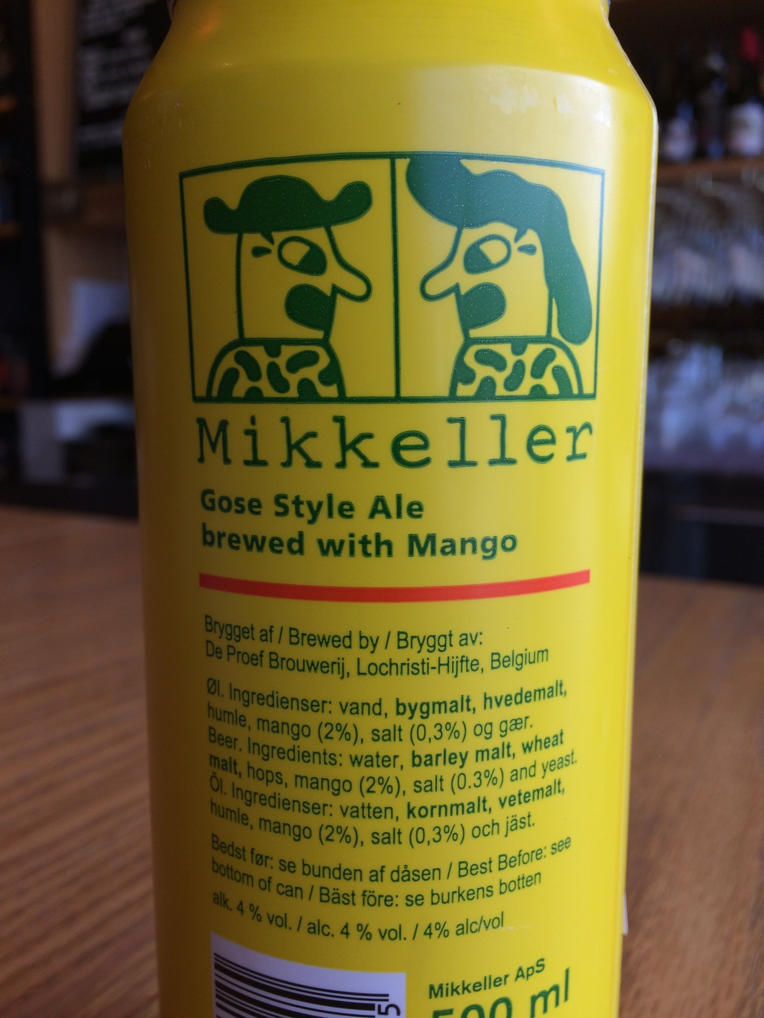 Mikkeller Brewing MIkkeller Gose Nose-Mango 500ml