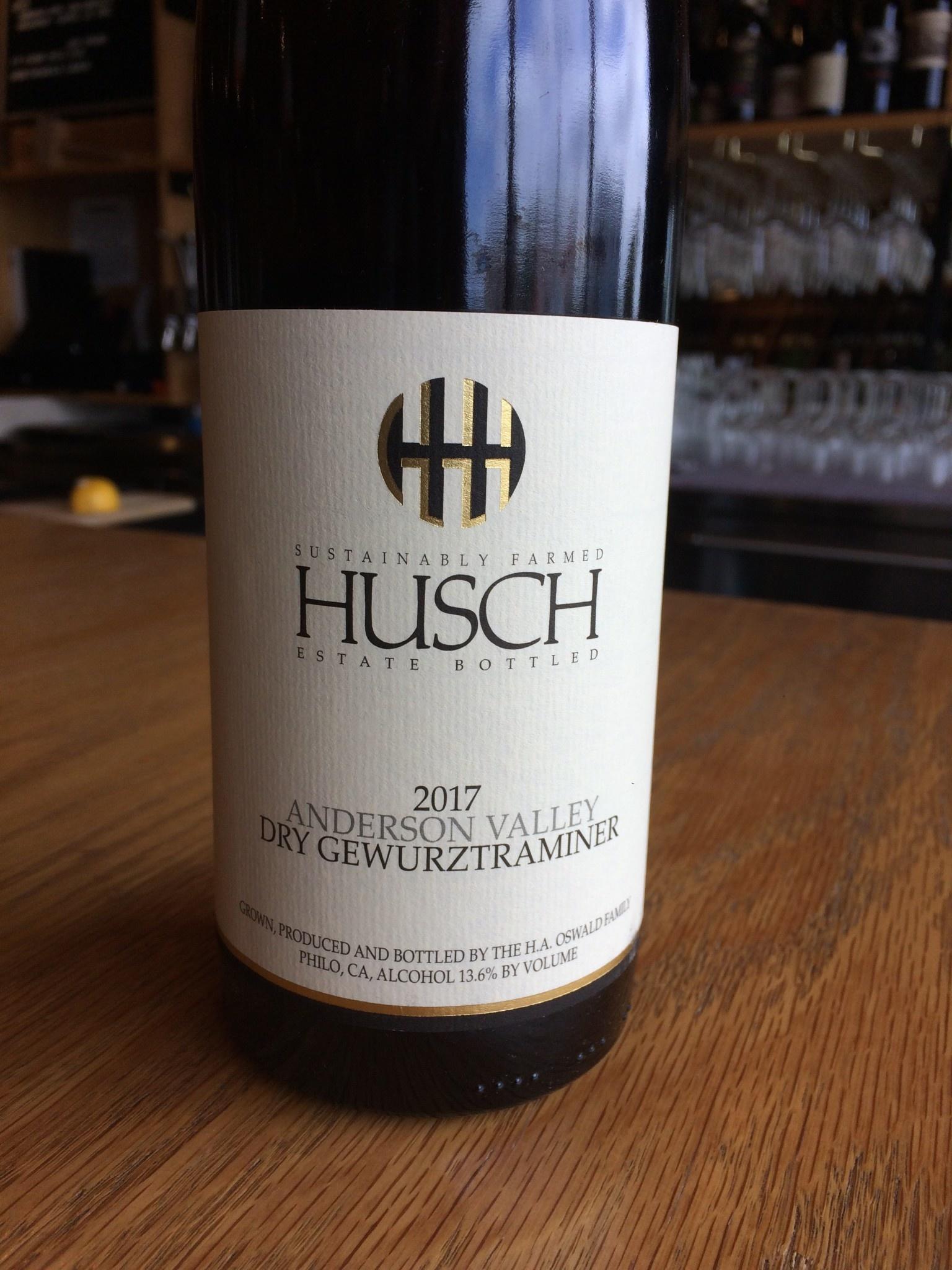 Husch 2017 Husch Anderson Valley Gewurtztraminer 750ml