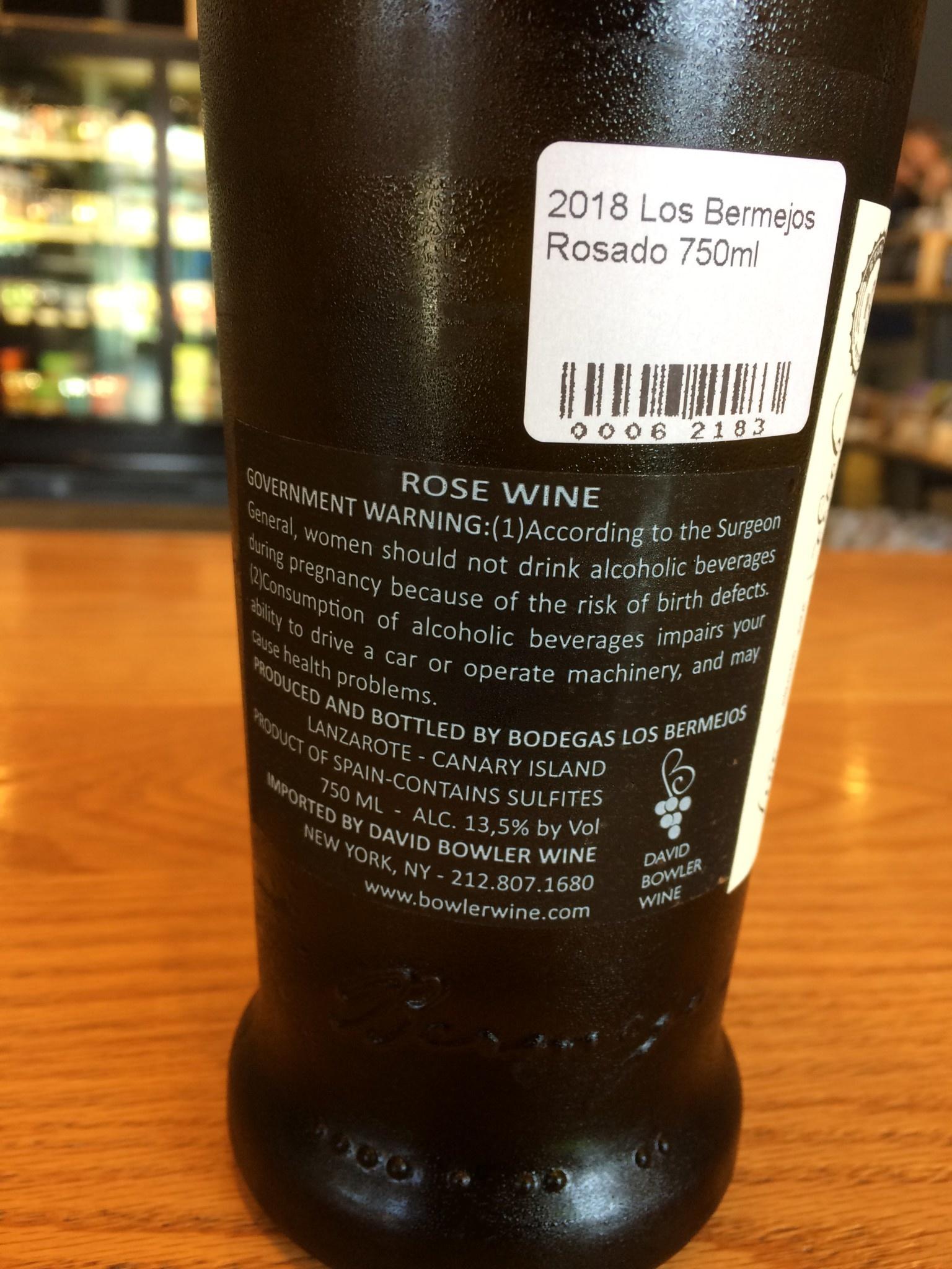 2018 Los Bermejos Rosado 750ml