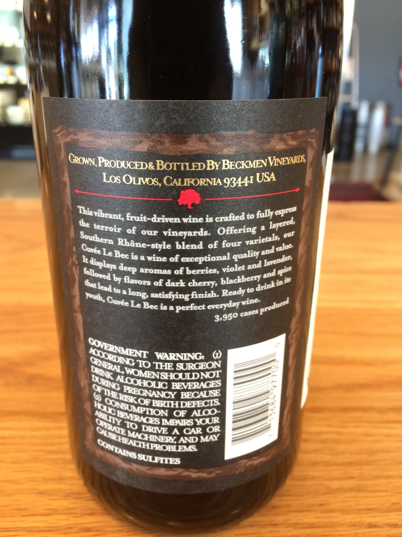 2017 Beckmen Vineyards Cuvee Le Bec Santa Ynez Estate 750ml