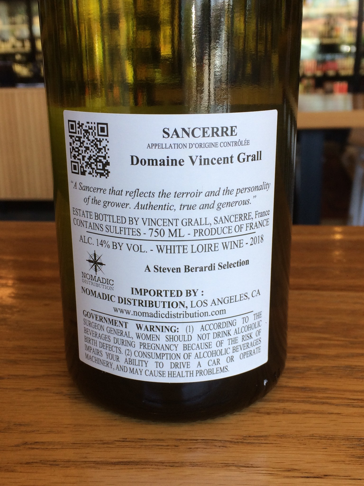 Vincent Grall 2018 Domaine Vincent Grall Sancerre Tradition 750mL