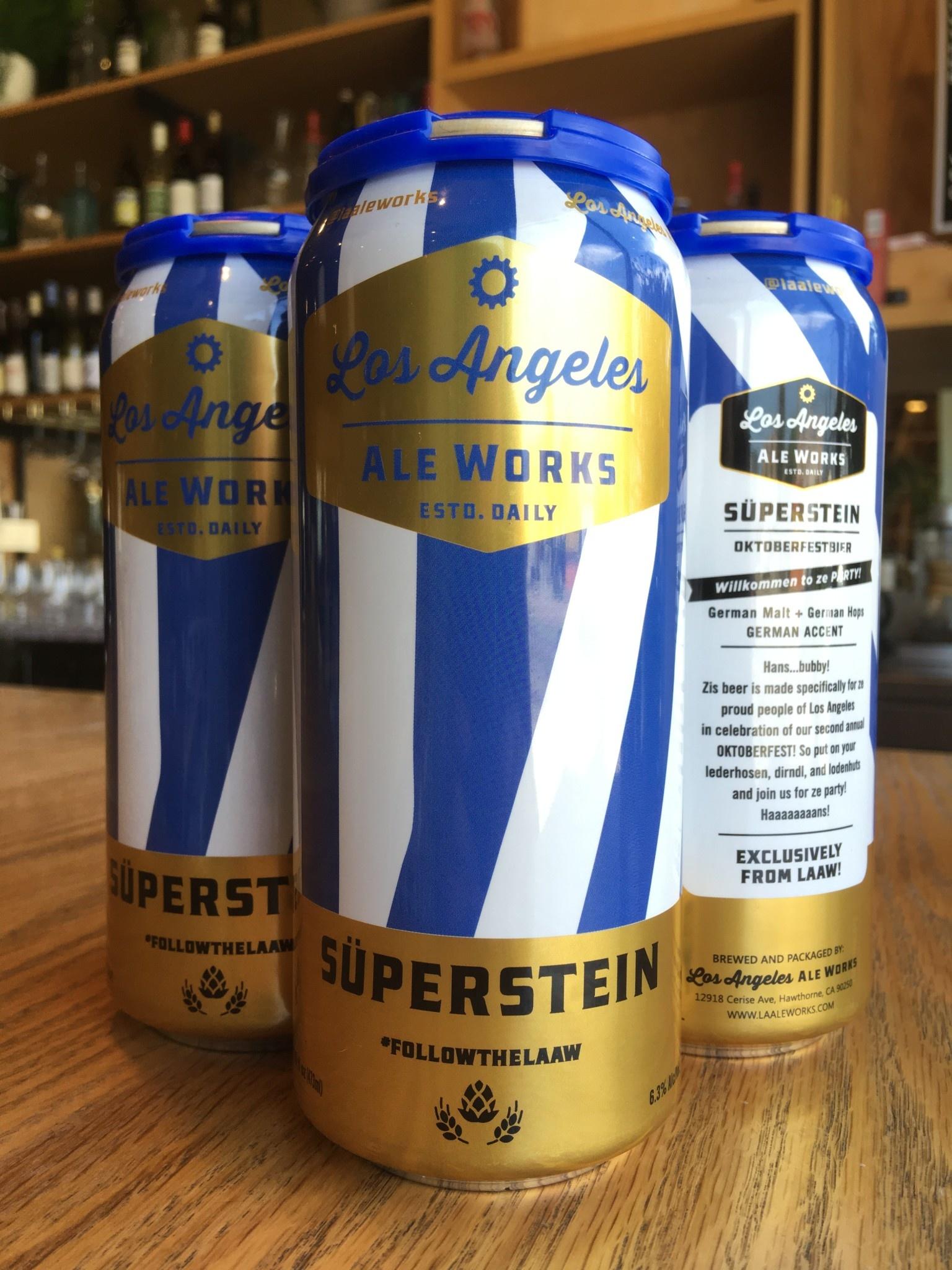 Los Angeles Ale Works Los Angeles Aleworks Superstein 16oz 4pk