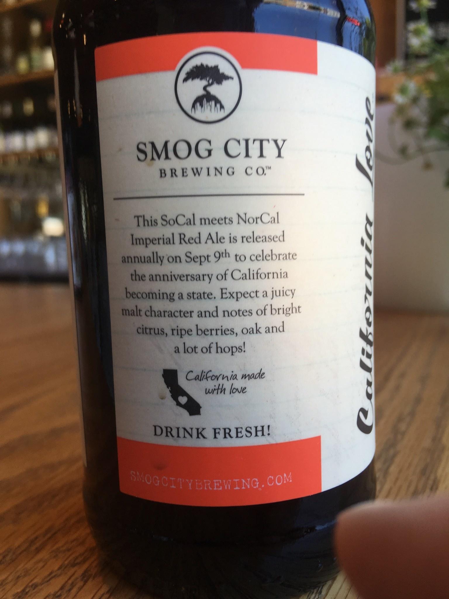 Smog City Brewing Co. Smog City Brewing California Love 12oz, 6pk