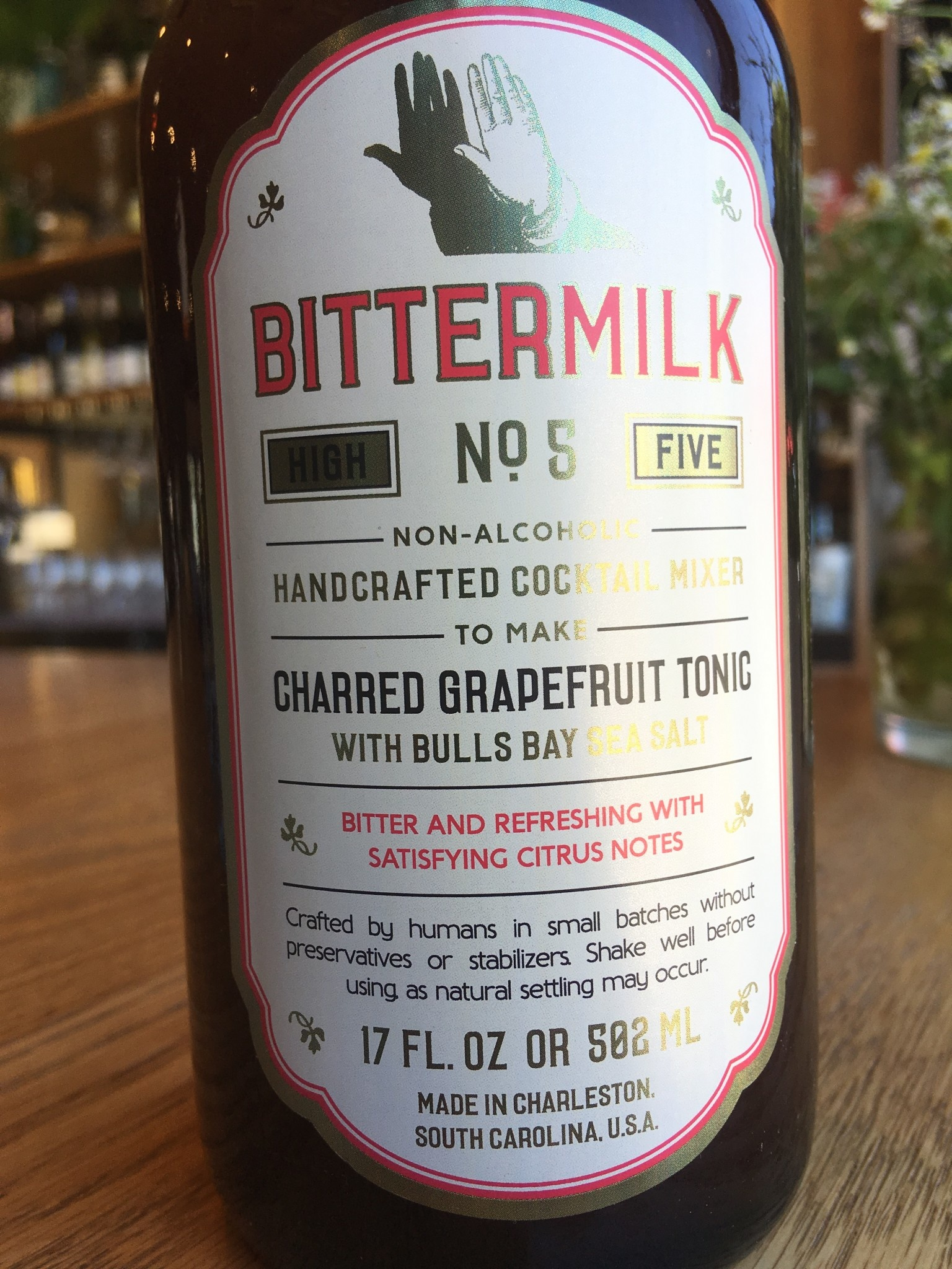 Bittermilk Bittermilk Cocktail Mixers No. 5 Charred Grapefruit Tonic
