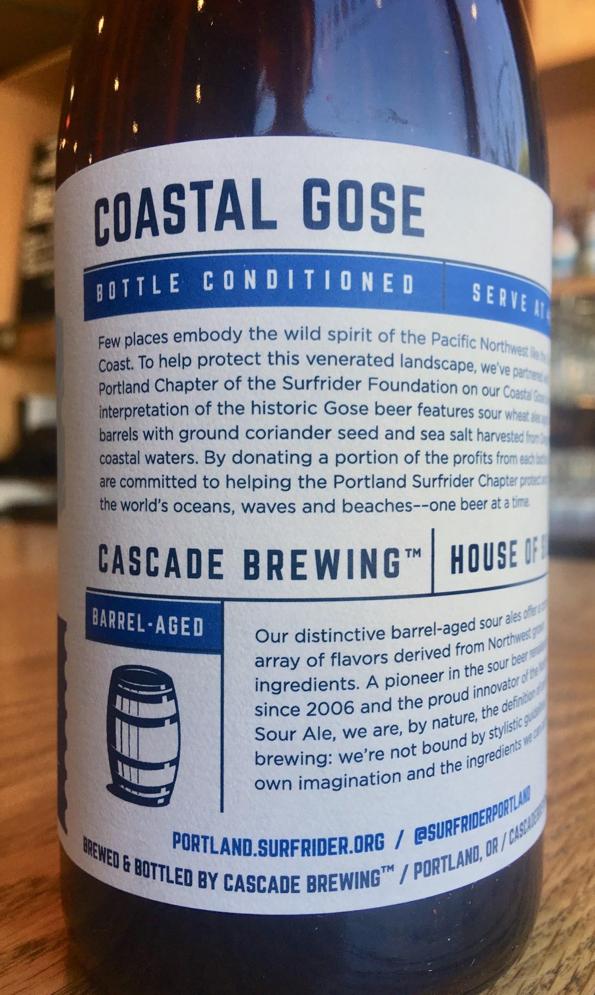 Cascade Brewing 2018 Cascade Brewing Coastal Gose 500ml