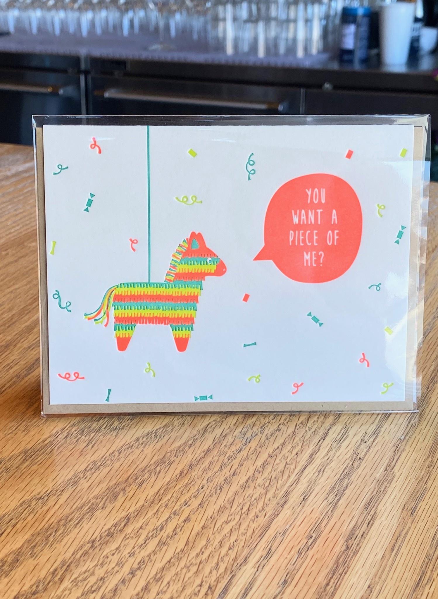 Elum Feisty Pinata Elum Greeting Card