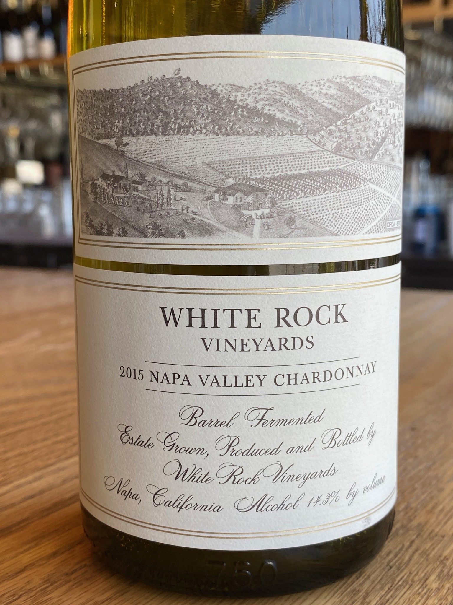 White Rock Vineyards 2015 White Rock Vineyards Estate Napa Valley Chardonnay 750ml