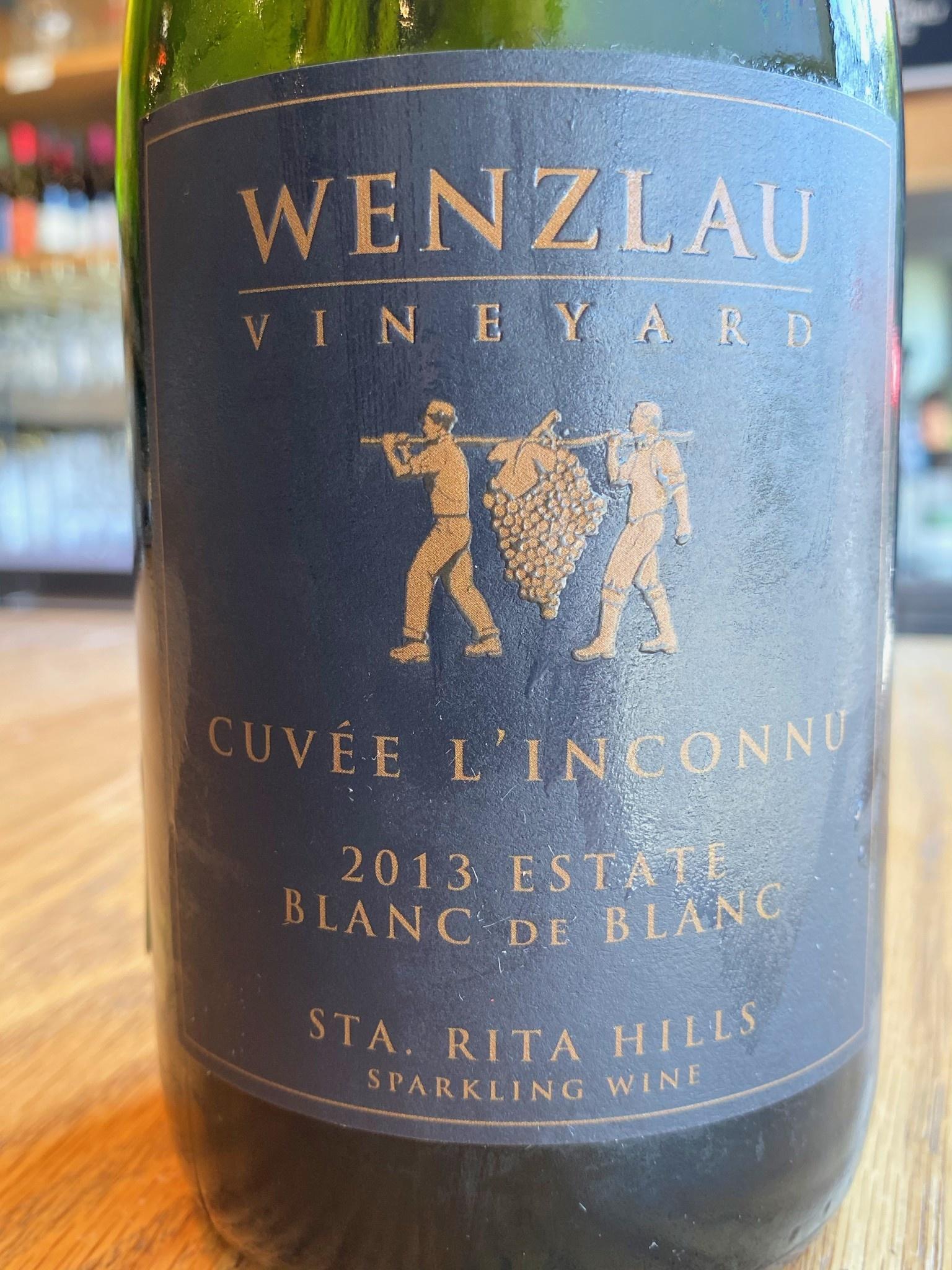 Wenzlau 2013 Wenzlau 'Cuvee L'Inconnu' Blanc de Blanc 750ml