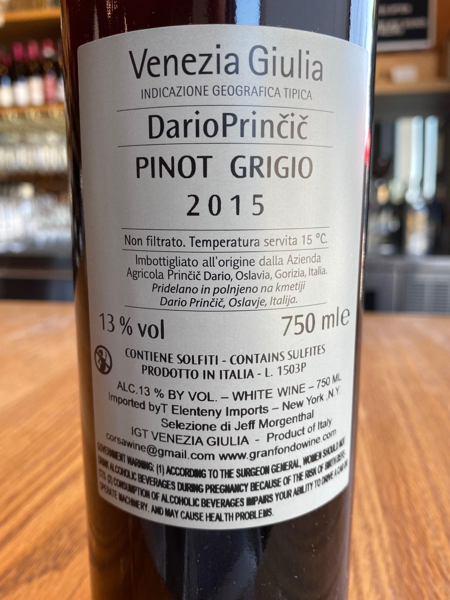 Dario Prinčič 2015 Dario Prinčič Pinot Grigio 750ml