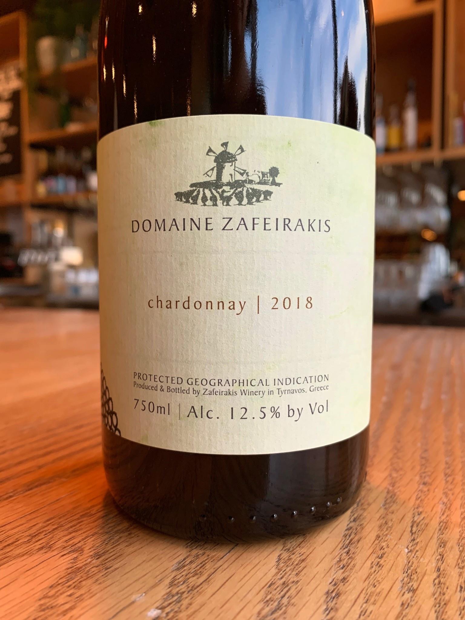 2018 Domaine Zafeirakis Chardonnay PGI Tirnavos 750mL